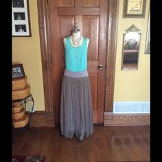 Beautiful Chan Luu chiffon maxi  Med Beautiful Chan Luu chiffon maxi skirt in a mushroom, nude color, size M , but runs large, floor length, side zip.preowned but still lovely Chan Luu Skirts Maxi