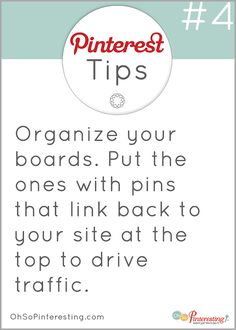 Pinterest for business tip #4: Organize your boards for maximum exposure