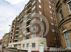 Handsome Art deco flats on Grand Avenue in Hove, Sussex England