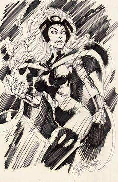 Storm sketch by John Byrne. 1991.   John Byrne Draws...