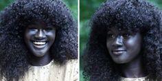 peau noire : Des milliers d'utilisateurs sur Internet sont ébahis par la peau remarquablement foncée de Khoudia Diop. Le mannequin sénégalais qui était