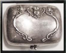 1900's STERLING miniature FIGURAL PURSE & Antique coin case * silver victorian accessory* nouveau cherub angel