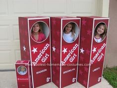american girl party activity idea.... american girl boxes... CUTE!
