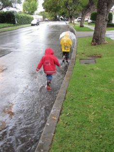 10 Ideas for Getting Outside on Rainy Days