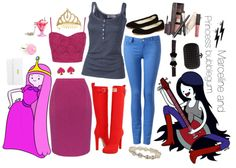 A fashion look from July 2012 featuring rib tank top, elastic waist skirt and skinny jeans. Browse and shop related looks. Princess Bubblegum Cosplay, Marceline And Princess Bubblegum, Elastic Waist Skirt, Disneybound, Bubble Gum, Fashion Looks, Skinny Jeans, Tank Tops, Halloween