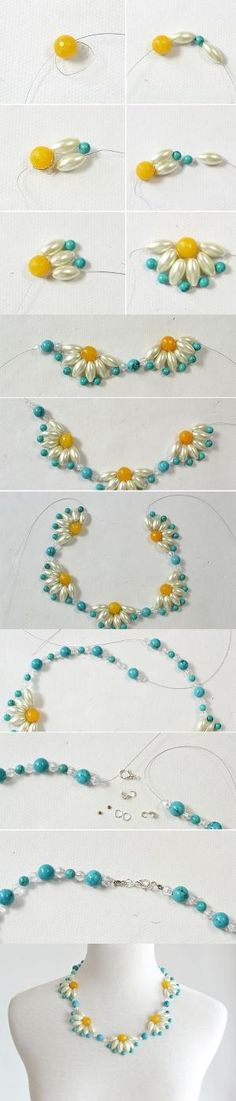 Tutorial - How to DIY a Flower Choker Necklace Step by Step from LC.Pandahall.com | Jewelry Making Tutorials & Tips 2 | Pinterest by Jersica