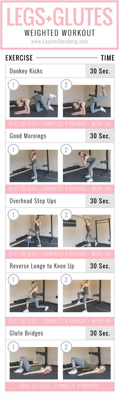 Leg + Glutes Weighted Workout | Posted By: NewHowToLoseBellyFat.com