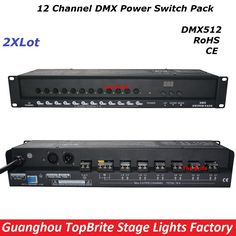 206.64$  Buy here - http://alikar.worldwells.pw/go.php?t=32779798011 - 2XLot Big Discount High Quality 12 Channel DMX Power Switch Pack Dj Disco Stage Laser Light Equipments For Free Shipping 88-256V 206.64$