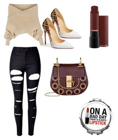 """""""neat"""" by fashionista-mafia on Polyvore featuring WithChic, Christian Louboutin and Chloé"""