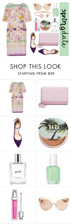 """""""Spring Date"""" by stavrolga on Polyvore featuring navabi, Kate Spade, Jimmy Choo, Urban Decay, philosophy, Essie, Christian Dior, Linda Farrow, Michael Kors and plussize"""