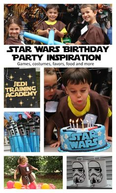 Possible Blue and Gold? (future) Star Wars Birthday Party Inspiration with details on how to have a jedi training academy