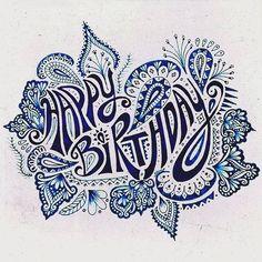 Birthday Zentangle