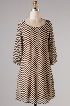 ****DEAL OF THE DAY*** Dress Chevron Zig Zag Taupe & Black, and Light Taupe & White. ONLY $20!!!!  - Kelly Brett Boutique. www.kellybrettboutique.com