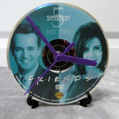 Friends DVD Clock Upcycled TV Show #2 by DarkStormTV on Etsy