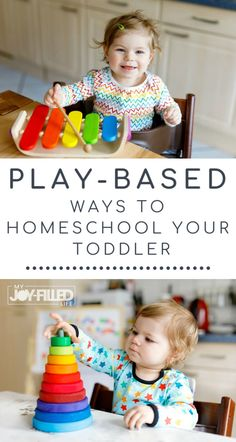 One of the best ways to teach your toddler is through play. Use these practical play-based learning ideas in your homeschool to help your toddler learn. Toddler Learning Activities, Play Based Learning, Learning Through Play, Infant Activities, Early Learning, Preschool Activities, Teaching Kids, Teaching Kindergarten, Learning Resources