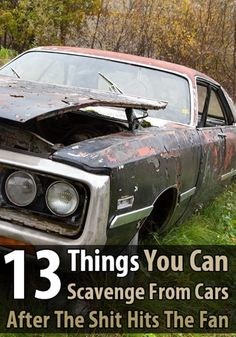 If youre anywhere near a city when the SHTF, youll come across thousands of vehicles that are full of useful survival items you can scavenge. via Urban Survival Site Survival Items, Survival Supplies, Urban Survival, Survival Life, Survival Food, Homestead Survival, Wilderness Survival, Camping Survival, Outdoor Survival
