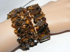 Lot of 2 Tigers Eye Stretch Bracelets Bracelet Expansion 2 Pieces | eBay