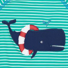 Buy John Lewis Baby Whale Stripe SunPro Swimsuit And Hat Set, Green, 3-6 months Online at johnlewis.com