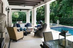 Charming living room design ideas for outdoor 09 Living Room Designs, Living Spaces, Budget Patio, Tiny Spaces, Outdoor Furniture Sets, Outdoor Decor, Outdoor Living, House Design, Design Ideas