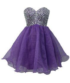 staychicfashion Women's Short Strapless Rhinestone Beaded Top Party Dress at Amazon Women's Clothing store: