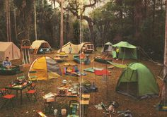 lol...looks like my family camping with all the tents