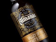 Chad Michael Studio created the gorgeously detailed packaging for a new series of beers from San Francisco based Almanac Beer Co.