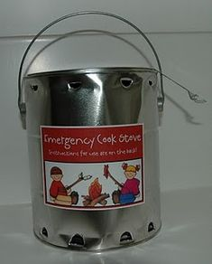 Emergency cook stove on the cheap...