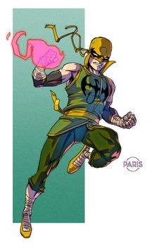 Iron Fist by ParisAlleyne on DeviantArt Marvel Comic Universe, Comics Universe, Marvel Art, Marvel Heroes, Iron Fist Marvel, Luke Cage, Comic Book Artists, Comic Books, Comic Character