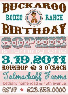 LOVE this -- buckaroo birthday theme