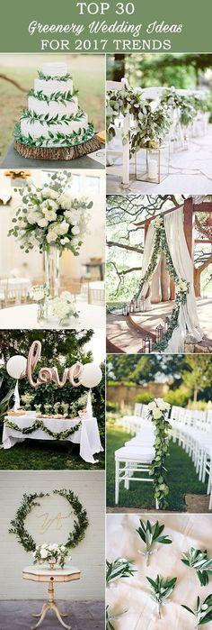 2017 Wedding Trends-Top 30 Greenery Wedding Decoration Ideas amazing 30 greenery wedding ideas for 2017 trends 2017 Wedding Trends, Wedding 2017, Wedding Themes, Wedding Colors, Wedding Ceremony, Our Wedding, Wedding Decorations, Trendy Wedding, Wedding Pins