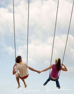 Couple holding hands on a swing. Love it! You Make Me, All You Need Is, Make Me Smile, My Love, How To Make, Mood Swings, Bellisima, Healthy Life, Romantic