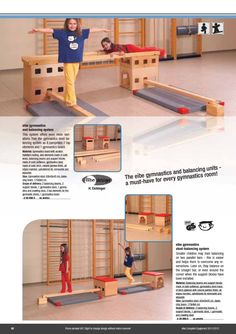Same idea, but simpler. Still allows kids to rearrange anyway they like and even use for things other than gymnastics.