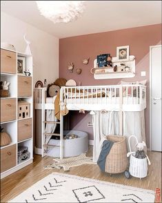 Over the years, our girls room has changed. Learn everything about our nursery # Mädchenzimmer Your design can become reality with . Baby Bedroom, Baby Room Decor, Nursery Room, Girls Bedroom, Toddler Room Decor, Toddler Rooms, Toddler Bed, Baby Boy Rooms, Little Girl Rooms