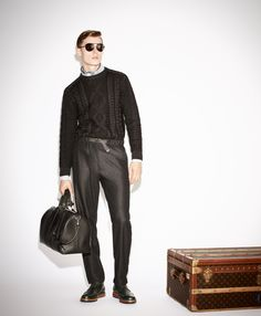 Janis Ancens & Rutger Schoone Model Louis Vuittons Fall/Winter 2013 Pre Collection