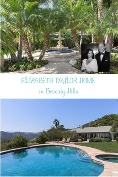 Historic Former Elizabeth Taylor Home on the market for the first time in decades is a lovely home with floor to ceiling sliding glass doors throughout. Sliding Glass Door, Glass Doors, Michael Wilding, Storybook Cottage, Unusual Homes, Celebrity Houses, Elizabeth Taylor, Historic Homes, 20 Years