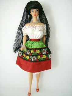 Barbie Doll in mexican dress
