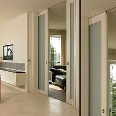 Double pocket door, concealed ceiling track - B46 - modern - interior doors - miami - Bartels Exclusive Designer Doors
