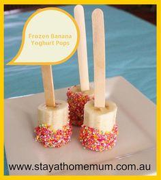 Frozen Banana Yoghurt Pops   Stay at Home Mum