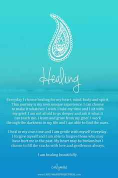 I chose to heal and evolve a little more each day. I am worthy of great things. I am succeeding in my life and business. All is well. My faith in God is providing me with infinite abundance and I praise you Lord.