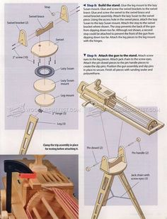 #1604 Rapid-Fire Rubber Band Gun - Children's Wooden Toy Plans and Projects