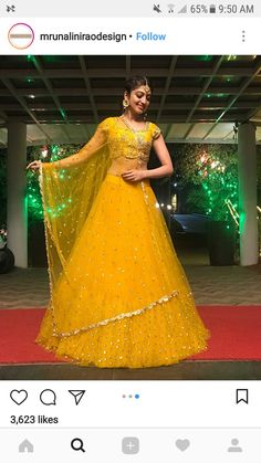 Buy Yellow Color Lehenga by Akanksha Singh at Fresh Look Fashion Indian Bridal Outfits, Indian Bridal Lehenga, Indian Designer Outfits, Indian Beauty Saree, Yellow Lehenga, Red Lehenga, Lehenga Choli, Indian Gowns Dresses, Bridal Dresses