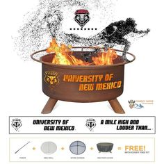 Show Your Pride and Entertain your Friends with the University of New Mexico Fire Pit! – College Fire Pit