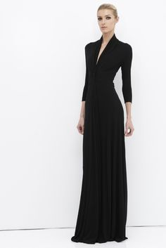 a bit of tacking from behind  voila! an amazing evening gown. (I hope Vogue Patterns has this gown, it would be an amazing addition to my wardrobe.) Chado Ralph Rucci Resort 2013
