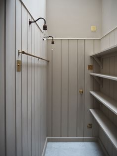 Home Decoration With Wood The pantry of dreams in deVOL& new London showroom New Homes, Pantry Design, House Interior, House, Home Remodeling, Devol Kitchens, Interior, Hidden Door, Pantry Decor
