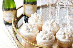 New Year's Eve Champagne Cupcakes