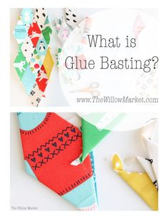 What is Glue Basting? English Paper Piecing. EPP project.