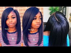 Crochet Braids WHERE?? Could've Fooled Me... - YouTube Crochet Braids Straight Hair, Crochet Braids Hairstyles Curls, Braided Hairstyles Tutorials, Crochet Hair Styles, Black Girls Hairstyles, Straight Hairstyles, Cool Hairstyles, Hairstyle Ideas, Black Girl Braids