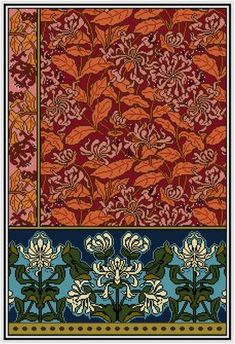Honeysuckle No. 2 floral Panel Cross stitch pattern by Whoopicat