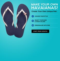 Design Your Own Flip Flops.  Fun!