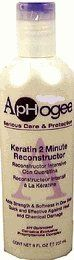 Aphogee Keratin 2 Minute Reconstructor 8oz by Aphogee. $8.89. Apply on clean hair in shower and rinse to treat brittle hair with cuticle damage and moderate breakage. ApHogee Keratin 2 Minute Reconstructor is a powerful, one step treatment that should be used for home use, between salon visits. This concentrated blend of keratin amino acids, botanical oils, and vitamins does wonders to restore strength and softness to hair that requires a deep, penetrating treatment. It i...
